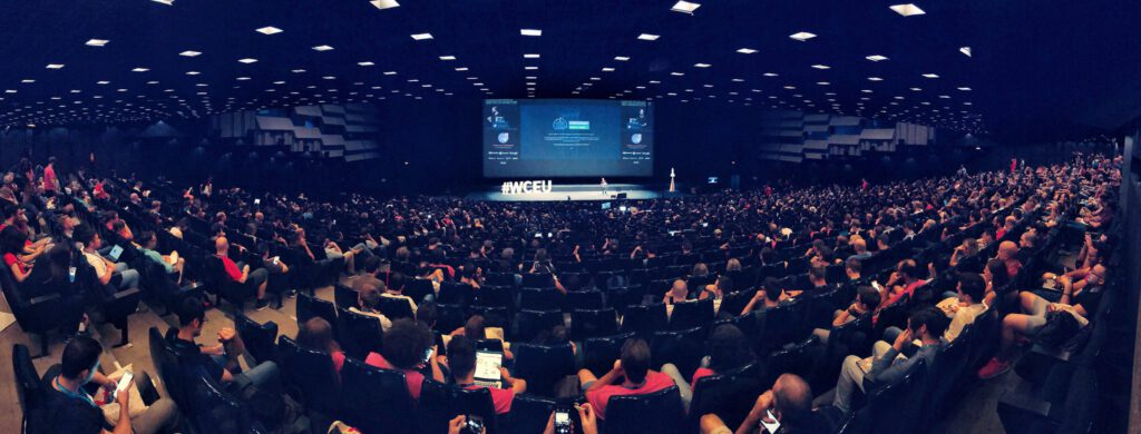 Photo of WC Europe packed Auditorium