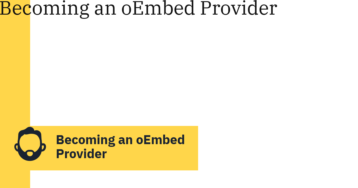 Becoming an oEmbed Provider